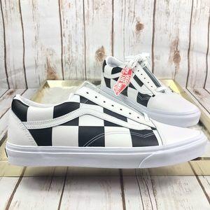 VANS Old Skool Leather Checkerboard Sneaker